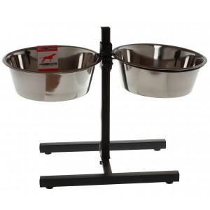 Foderstativ incl. skåle 4 liter